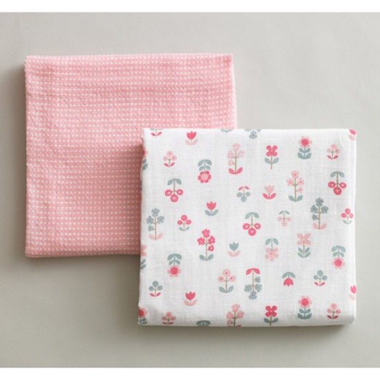DwellStudio Rosette Blossom Swaddle Blanket Product