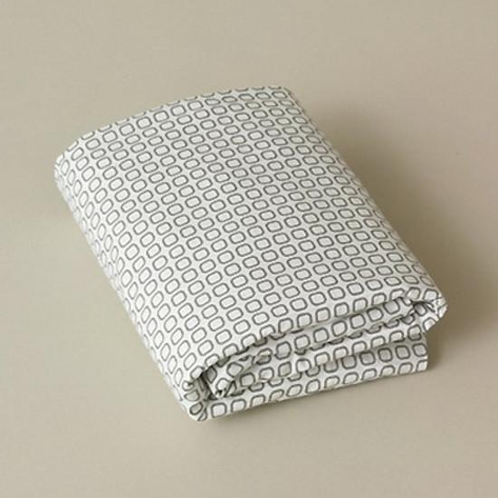 DwellStudio Squares Dove Grey Fitted Crib Sheet
