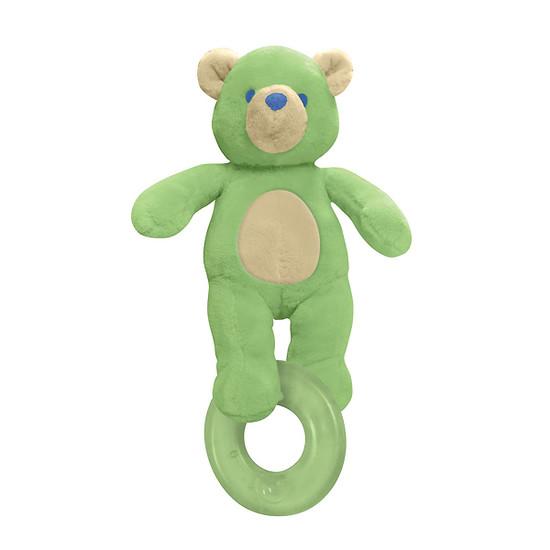 i play. Organic Terry Circus Animal Teether - Bear- Sage