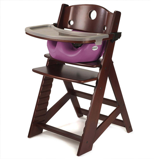Keekaroo Height Right High Chair with Tray & Insert Mahogany Raspberry