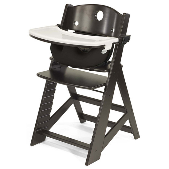 Keekaroo Height Right High Chair with Tray & Insert Expresso Black
