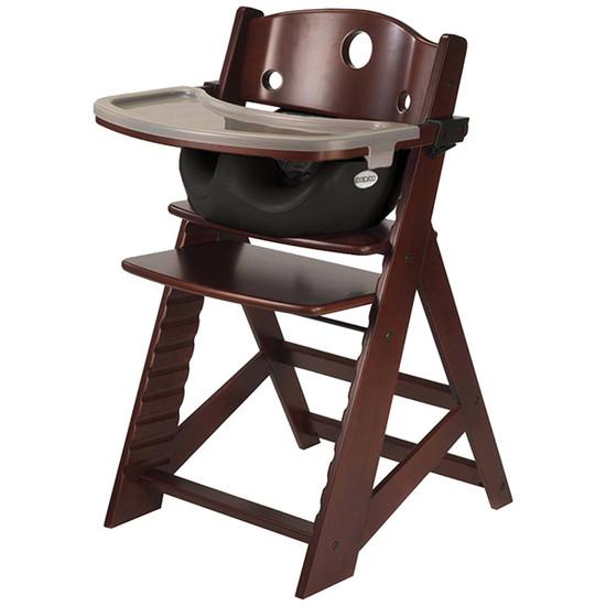 Keekaroo Height Right High Chair with Tray & Insert Mahogany Black