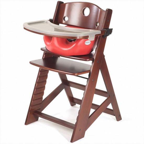 Keekaroo Height Right High Chair with Tray & Insert Mahogany Cherry