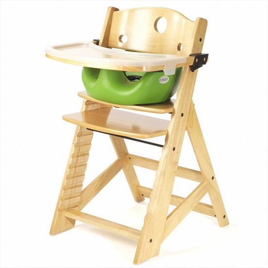 Keekaroo Height Right High Chair with Tray & Insert Natural Lime