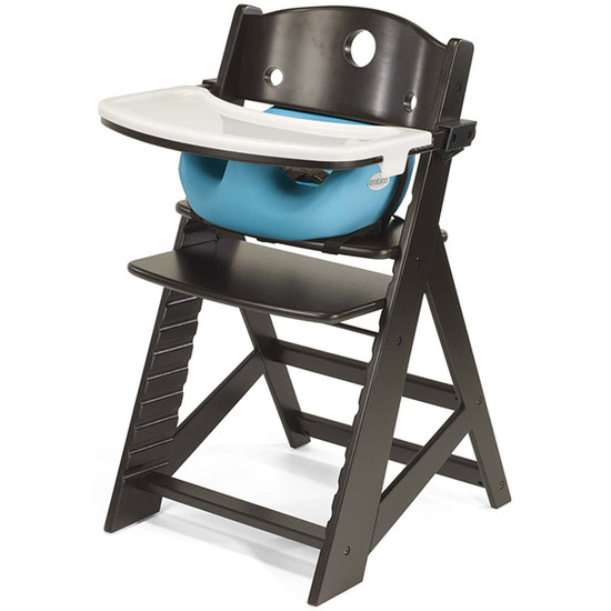 Keekaroo Height Right High Chair with Tray & Insert Expresso Aqua