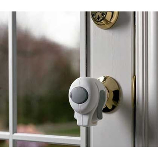 KidCo Door Knob Lock Clear 2 Pack S352C