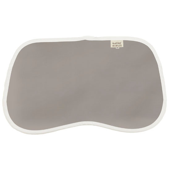 Kushies Organic Jersey Reversible Burp Pads - Grey