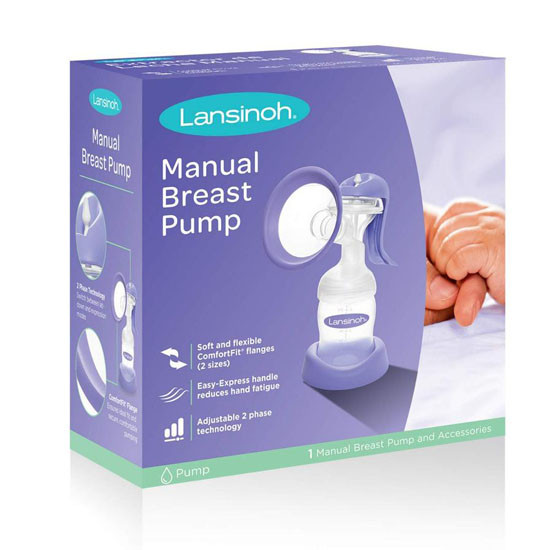 Lansinoh Manual Breast Pump Package