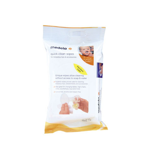 Medela Quick Clean Breastpump & Accessory Wipes 24 Count