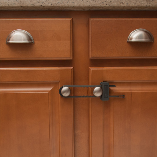 Safety 1st Cabinet Slide Lock 3pack - Charcoal