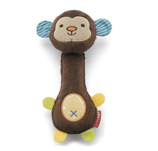 Skip Hop Giraffe Safari Squeeze Me Rattles - Monkey Product