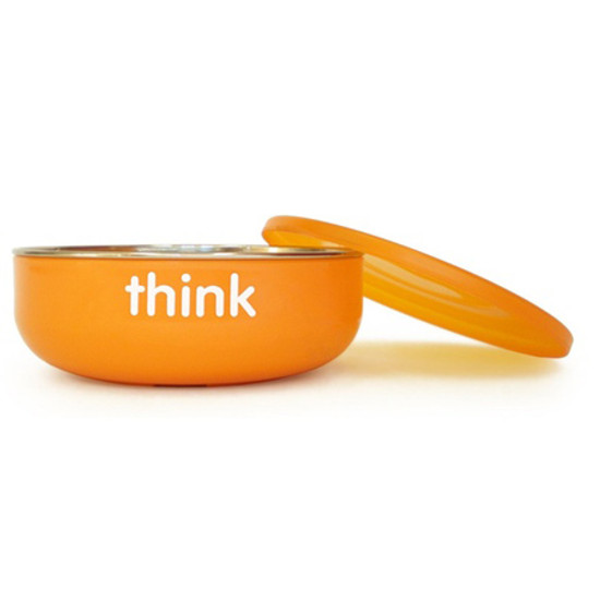 ThinkBaby BPA Free Baby Bowl - Orange