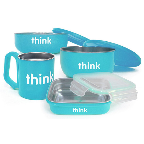 ThinkBaby The Complete BPA Free Feeding Set - Light Blue