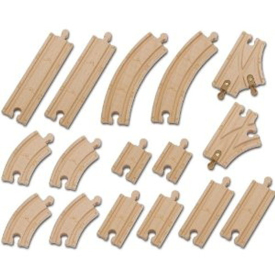 Tomy International Chuggington Wooden Railway - 16 Piece Wood Track Pack