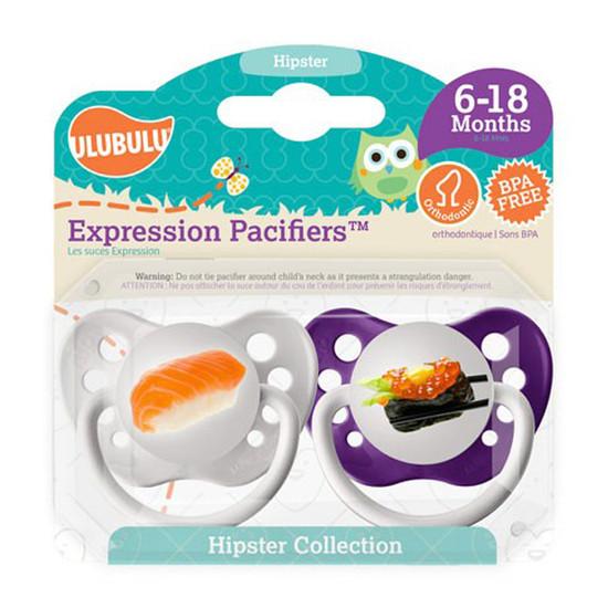 Ulubulu Hipster Pacifiers - Sushi & Sashimi 6-18M