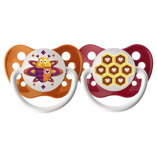 Ulubulu Lots of Love Pacifier - Bee & Honeycomb 0-6M Product