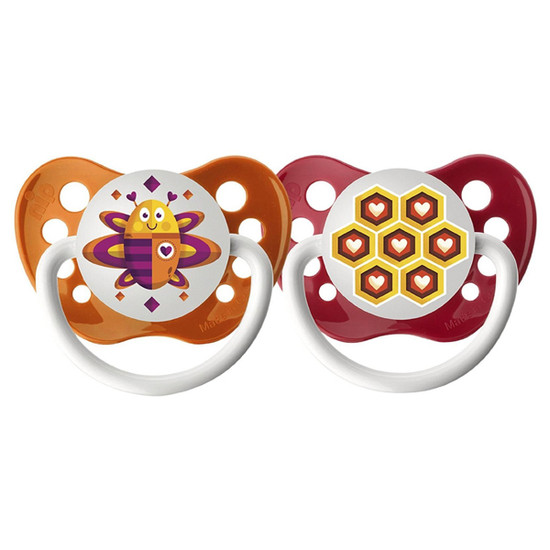Ulubulu Lots of Love Pacifier - Bee & Honeycomb 0-6M
