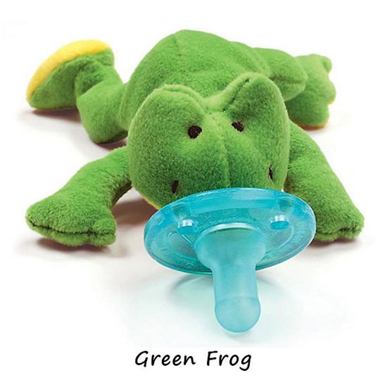 WubbaNub Plush Pacifier - Green Frog