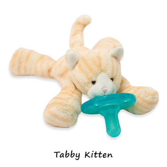 WubbaNub Plush Pacifier - Tabby Kitten