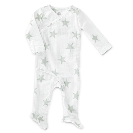 aden + anais Long Sleeve Kimono One-Piece - Silver Star Product