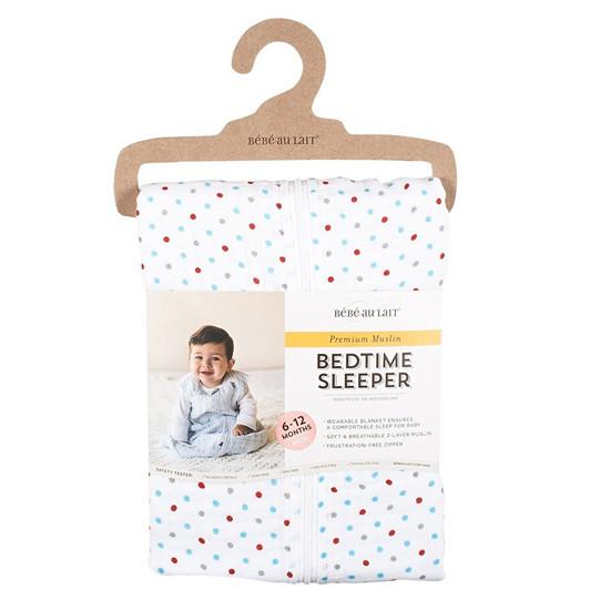 Bebe Au Lait Muslin Bedtime Sleeper - Polka - 12-18 Months-2