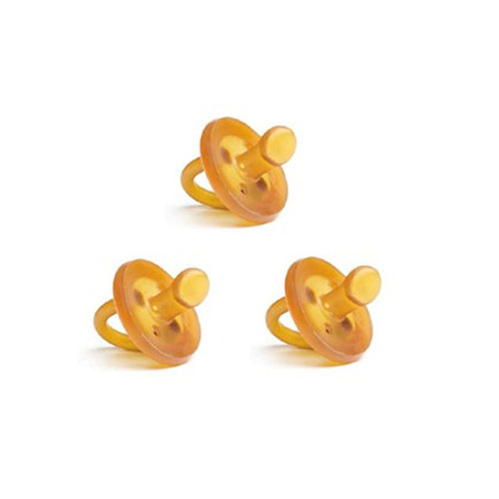 Ecopiggy Ecopacifier Natural Rubber Pacifier 3 Pack - Orthodontic Product
