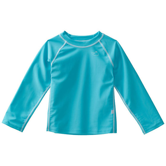 i play. Long Sleeve Rashguard - Aqua-1