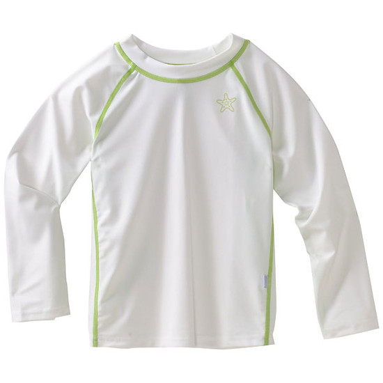 i play. Long Sleeve Rashguard - White-1