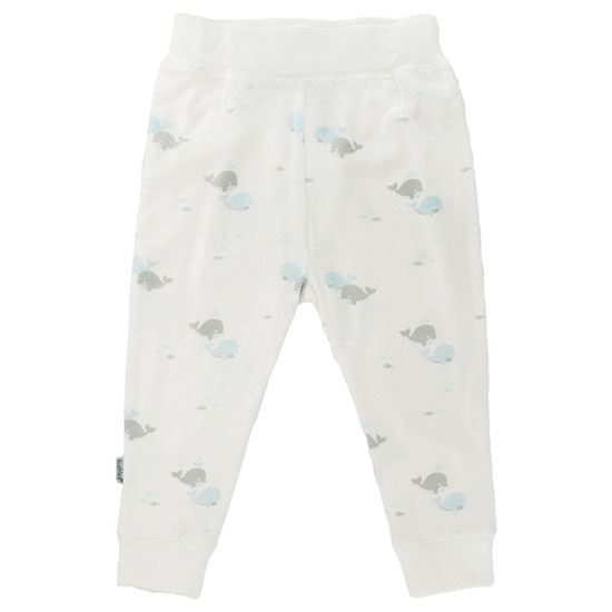 Kushies Play Pant - White Print-1
