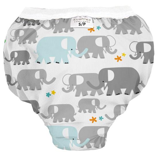 Kushies Waterproof Training Pant - White Elephants Product
