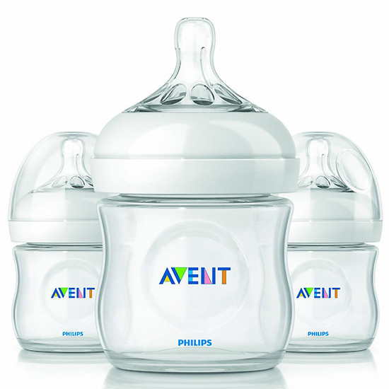 Philips Avent Natural Feeding Bottle 4oz - 3pk-1