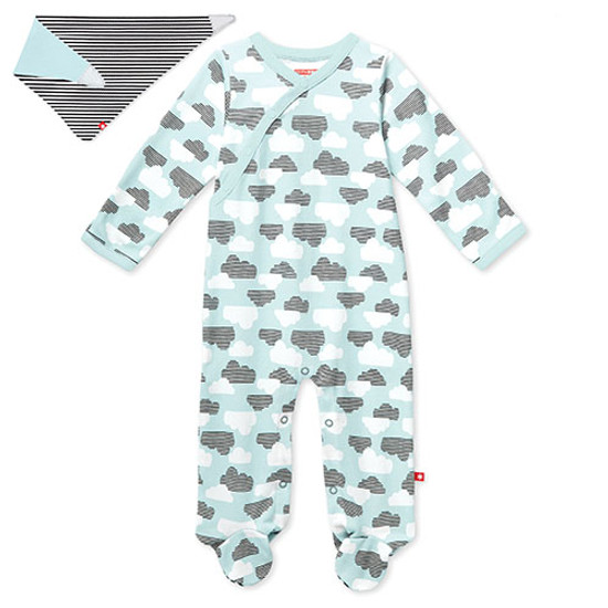 Skip Hop Footie & Bandana Set - Star Struck - Blue-1