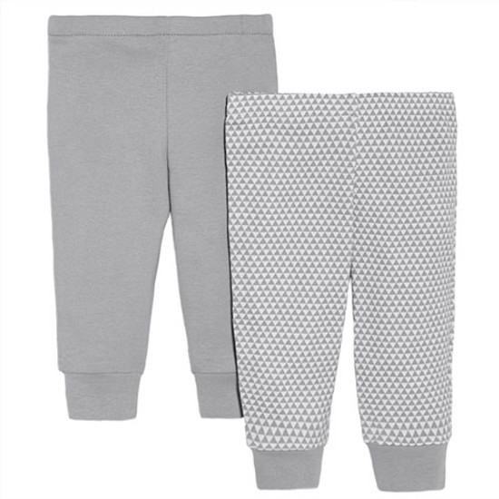 Skip Hop Petite Triangles Baby Pants Set - Grey-1