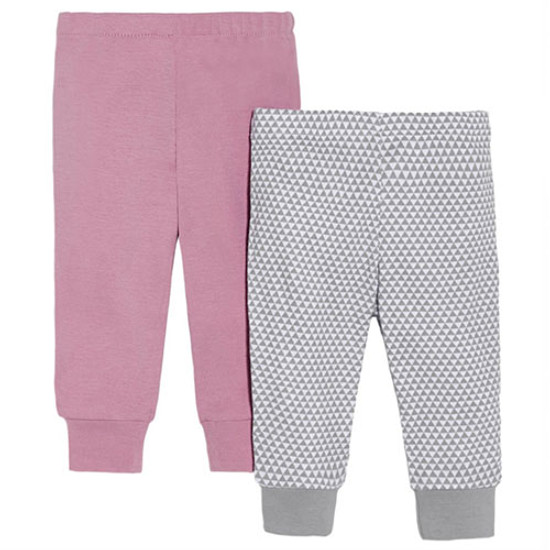 Skip Hop Petite Triangles Baby Pants Set - Pink-1