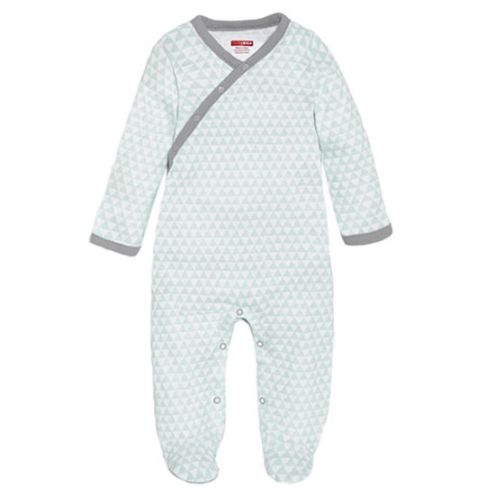 Skip Hop Petite Triangles Side Snap Footie - Blue-1