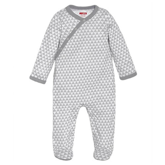Skip Hop Petite Triangles Side Snap Footie - Grey Product