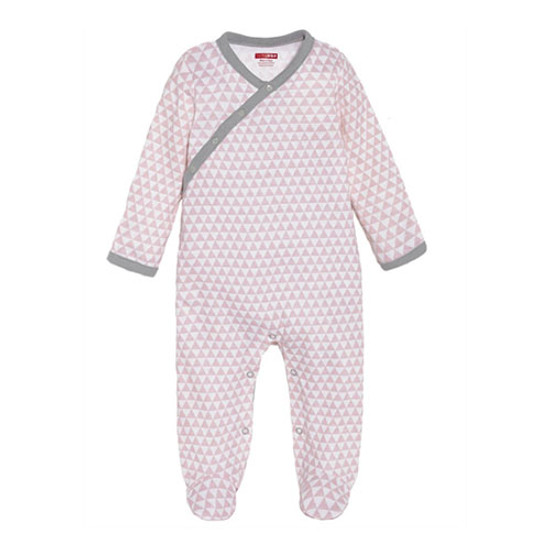 Skip Hop Petite Triangles Side Snap Footie - Pink-1