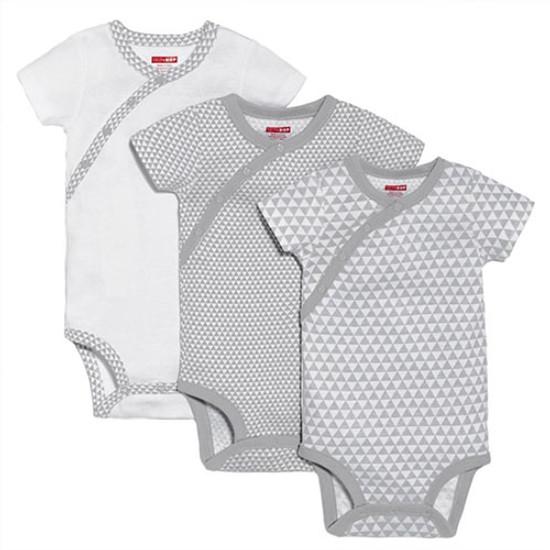 Skip Hop Petite Triangles Side Snap Short Sleeve Bodysuit Set - Grey Product