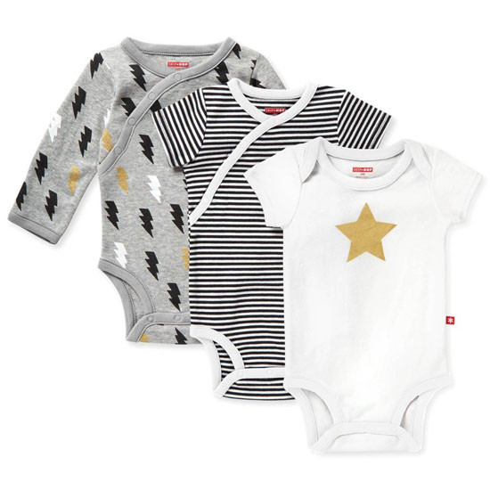 Skip Hop Star Struck 3 Piece Bodysuit Multipack - Grey-1