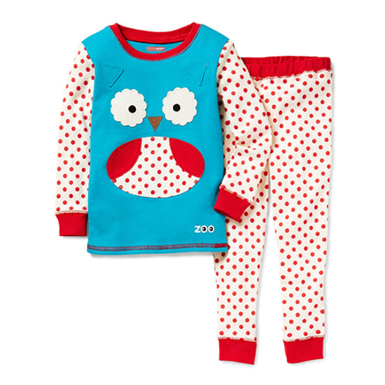 Skip Hop Zoojamas Little Kid Pajamas - Owl-1