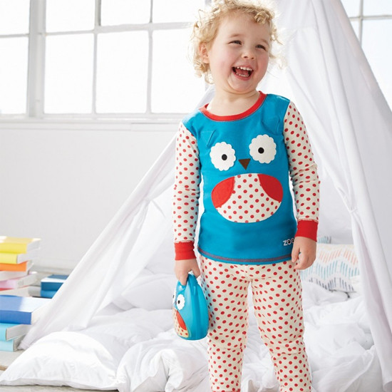 Skip Hop Zoojamas Little Kid Pajamas - Owl-2