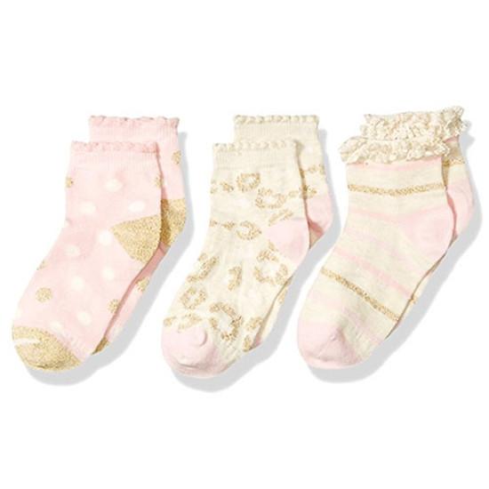 STRIDE RITE Karla Sweet Shimmer Comfort Seam Quarter - 3 Pack-1