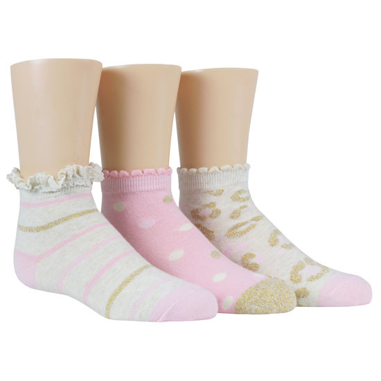STRIDE RITE Karla Sweet Shimmer Comfort Seam Quarter - 3 Pack-2
