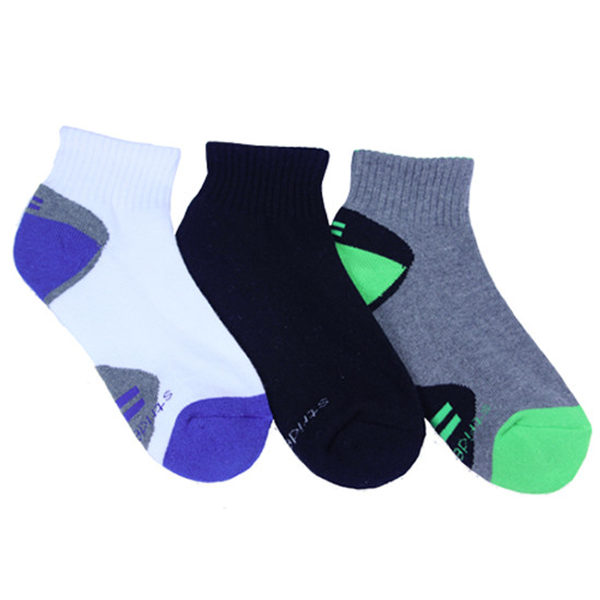 STRIDE RITE Reggie Made to Play Color Pop Quarter Socks - 3 Pack Product