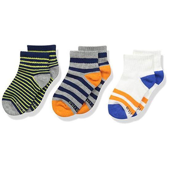 STRIDE RITE Seth Pop Stripe Comfort Seam Quarter Socks - 3 Pack-1