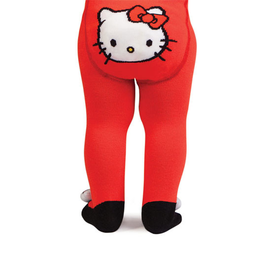 Trumpette Hello Kitty (12-18 Months) Rattle Baby Tights-2