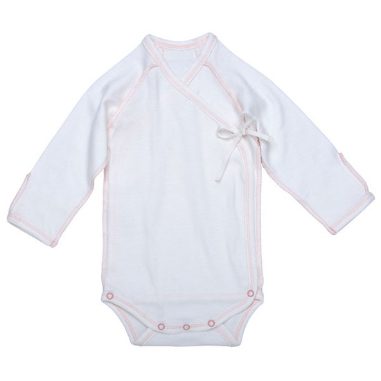 Under The Nile Inside-Out Babybody - Off White w. Blush Trim Product