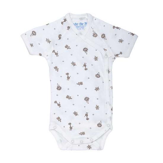 Under The Nile Short Sleeve Side Snap Babybody - Animal Print Product