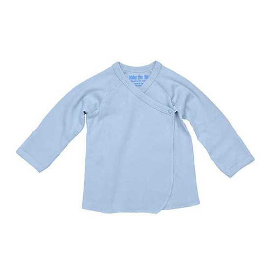 Under The Nile Long Sleeve Side Snap T-Shirt - Ice Blue-1