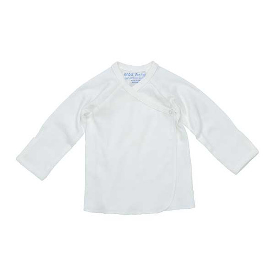 Under The Nile Long Sleeve Side Snap T-Shirt - Off White Product